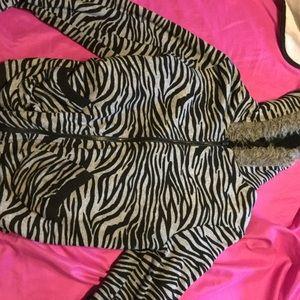 Jackets & Blazers - Thick wooly zebra jacket